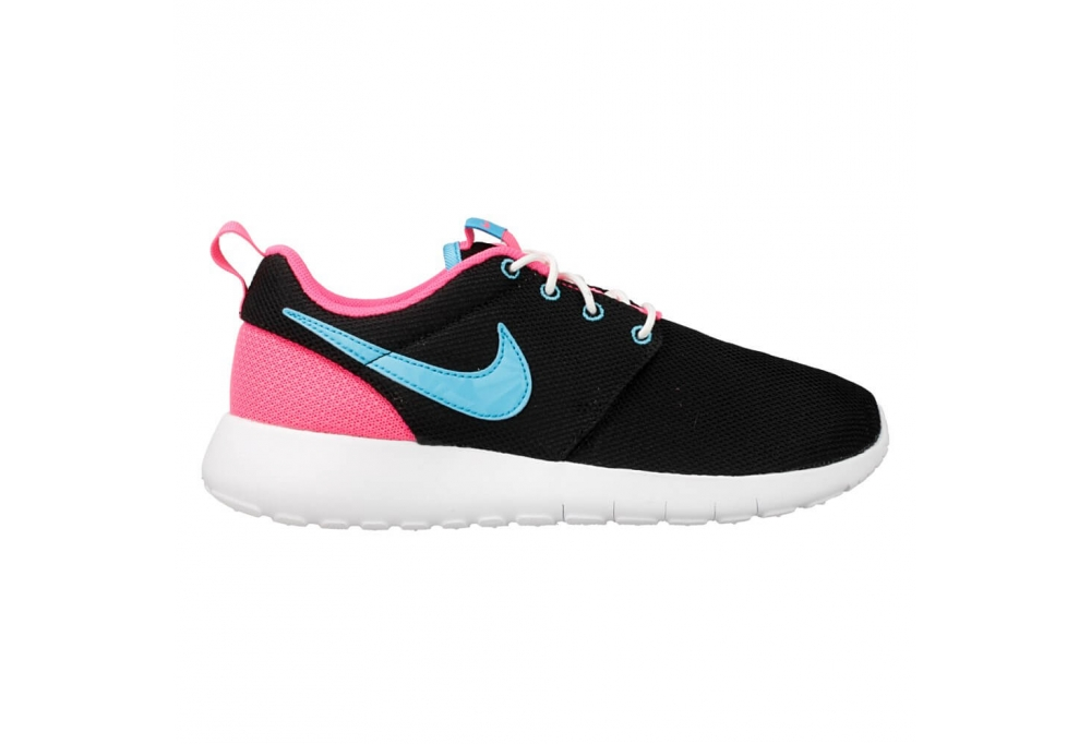 nike roshe blue and pink