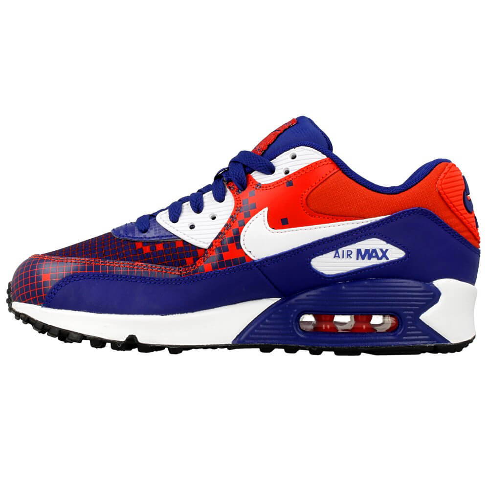 nike dunk imprimé zèbre - Nike Air Max 90 Premium Mesh GS 724882-401 | Red, Dark Blue ? EN ...