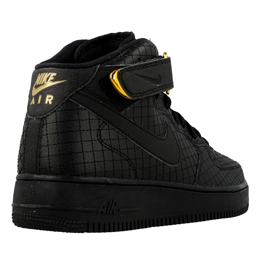 nike air force 1 mid 07 lv8 804609 001 black en. Black Bedroom Furniture Sets. Home Design Ideas