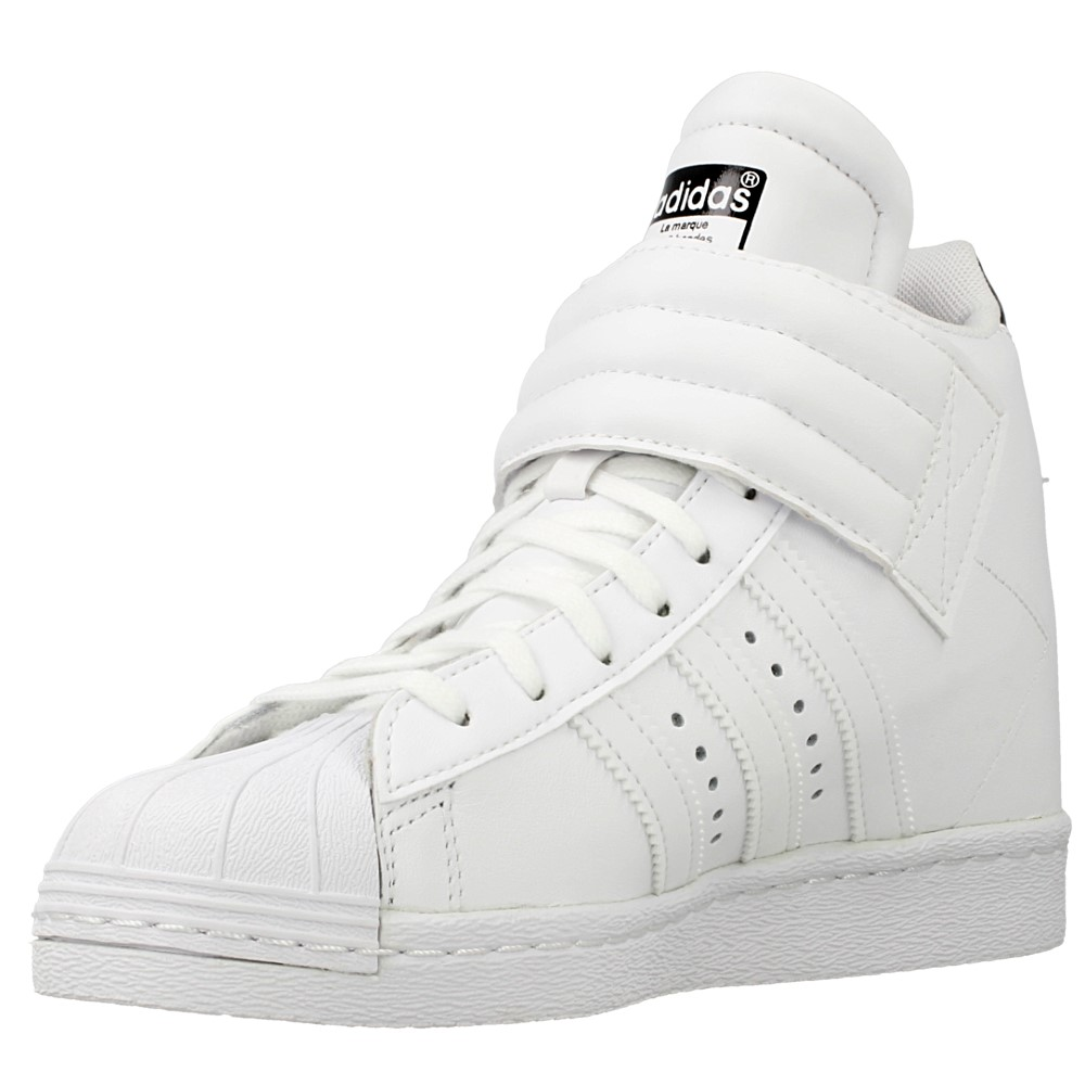unboxing adidas superstar 2 foundation series white red on feet