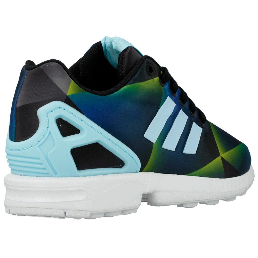 Adidas Zx Flux Green And Blue