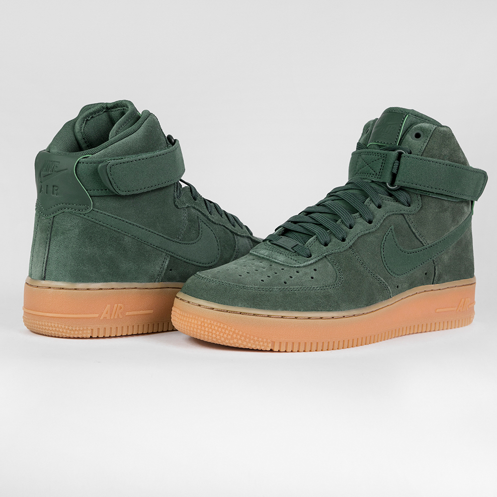 nike air force 1 high 39 07 lv8 suede aa1118 300 green. Black Bedroom Furniture Sets. Home Design Ideas