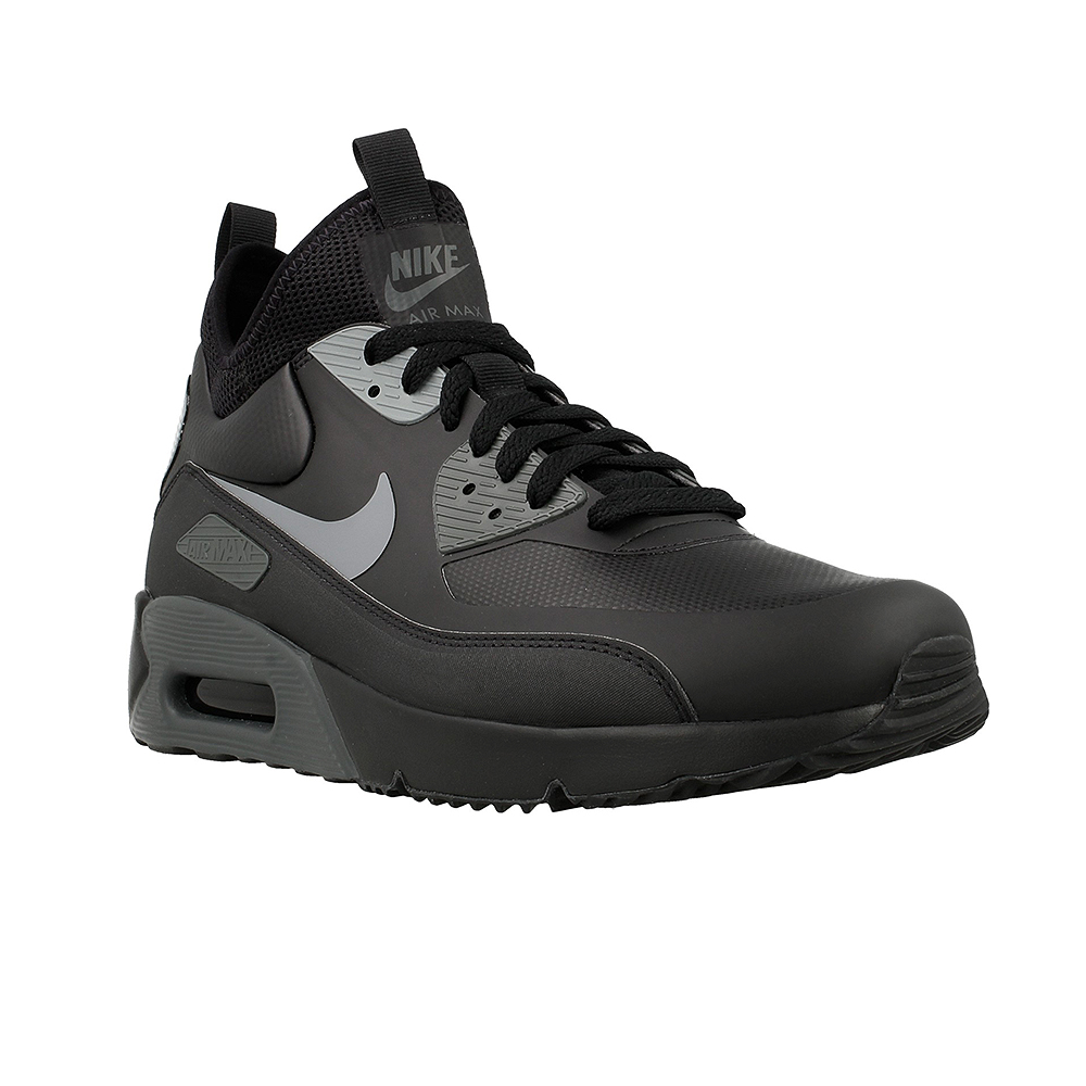 nike air max 90 ultra mid winter 924458 002 black grey. Black Bedroom Furniture Sets. Home Design Ideas