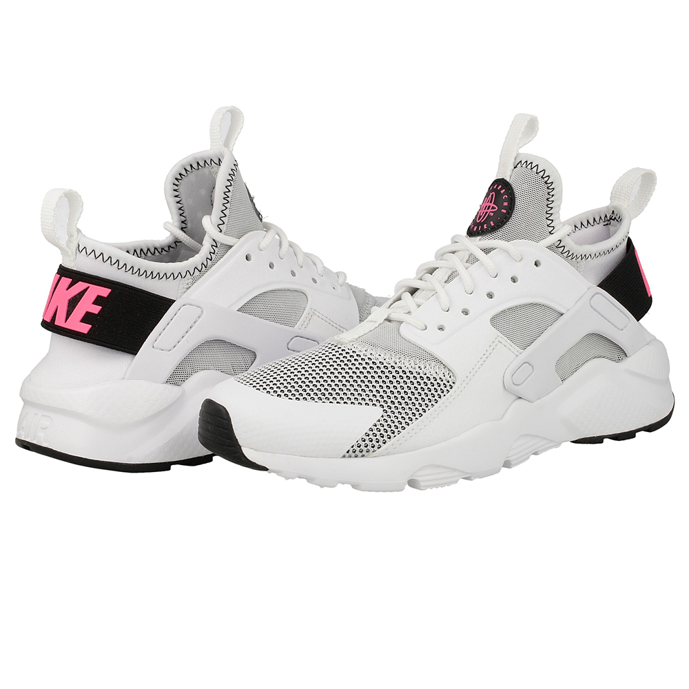 nike air huarache run ultra gs 847568 100 white black pink en. Black Bedroom Furniture Sets. Home Design Ideas