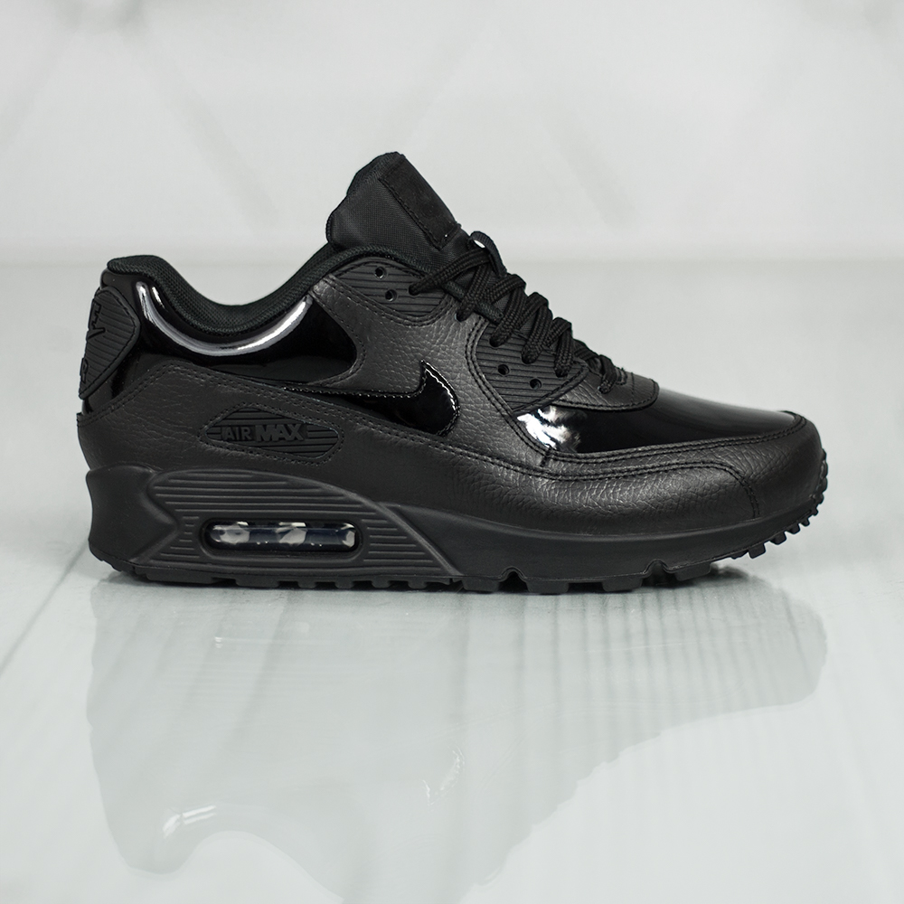 buty nike air max 90 leather black