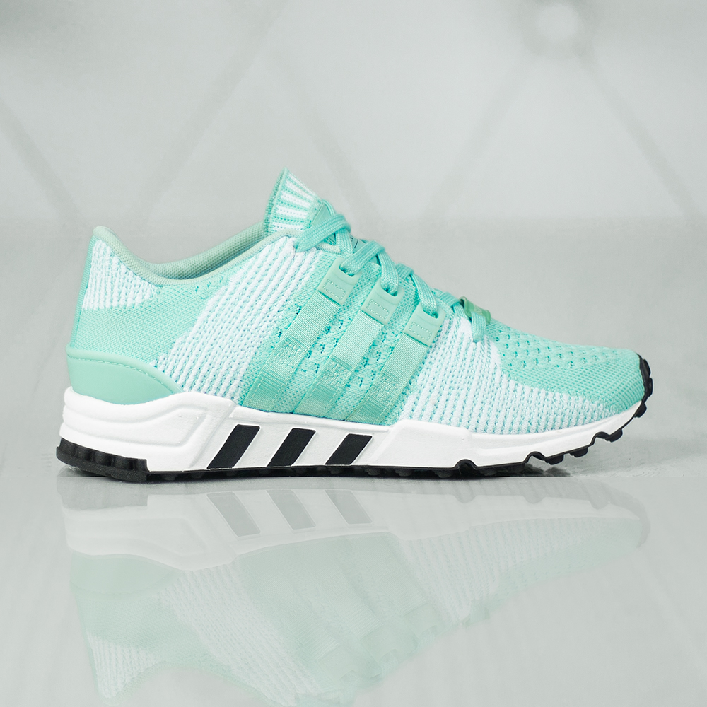 adidas originals eqt support rf primeknit trainer in aqua