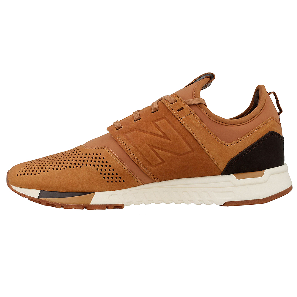 new balance 247 luxe mens running shoes brown mrl247ta leather
