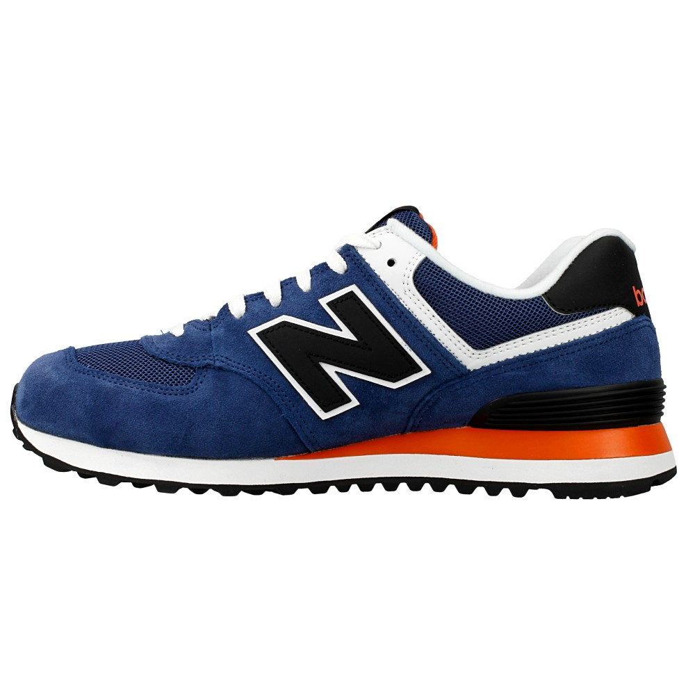 new balance 574 blue orange white