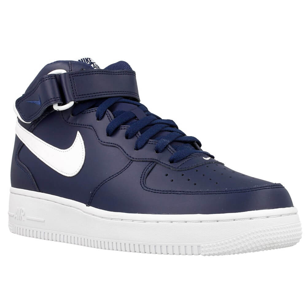 nike air force 1 mid 07 315123 407 white dark blue en. Black Bedroom Furniture Sets. Home Design Ideas