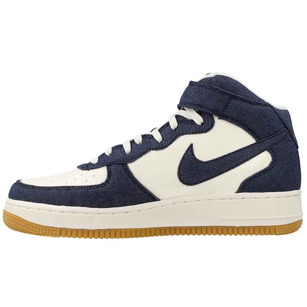 nike air force 1 mid 07 315123 408 white dark blue en. Black Bedroom Furniture Sets. Home Design Ideas