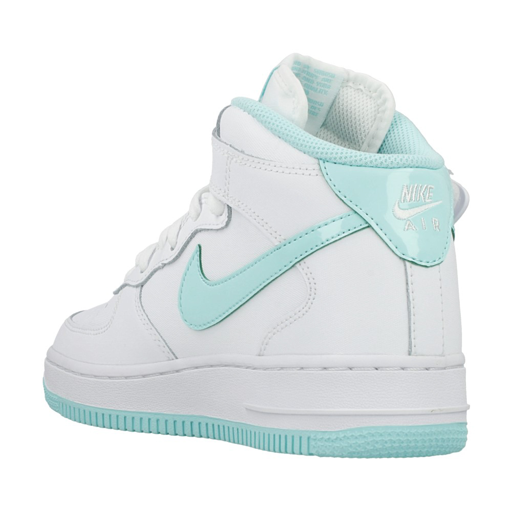 nike air force 1 mid gs 518218 107 white light green. Black Bedroom Furniture Sets. Home Design Ideas