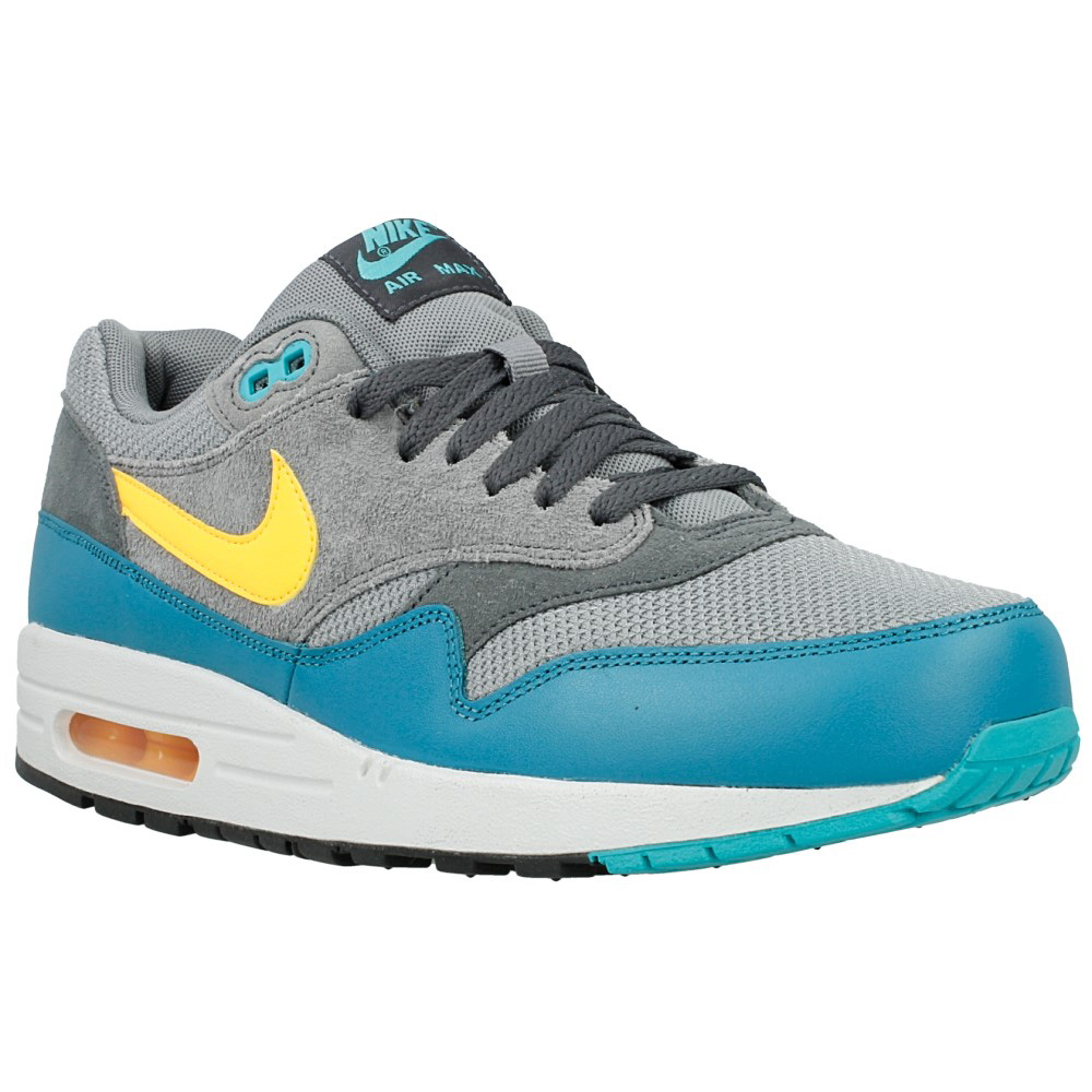 nike air max 1 essential 537383 018 blue grey yellow. Black Bedroom Furniture Sets. Home Design Ideas