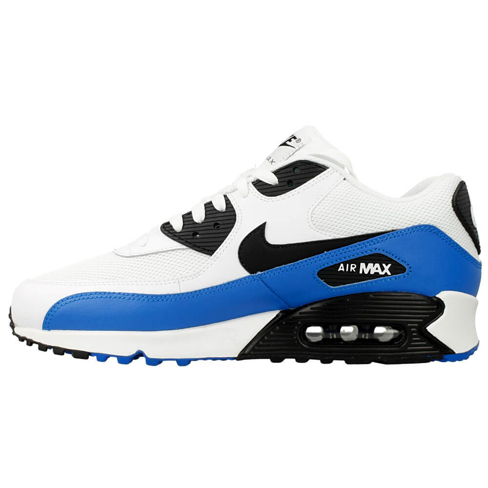 nike air max 90 essential 537384 124 white black blue en. Black Bedroom Furniture Sets. Home Design Ideas