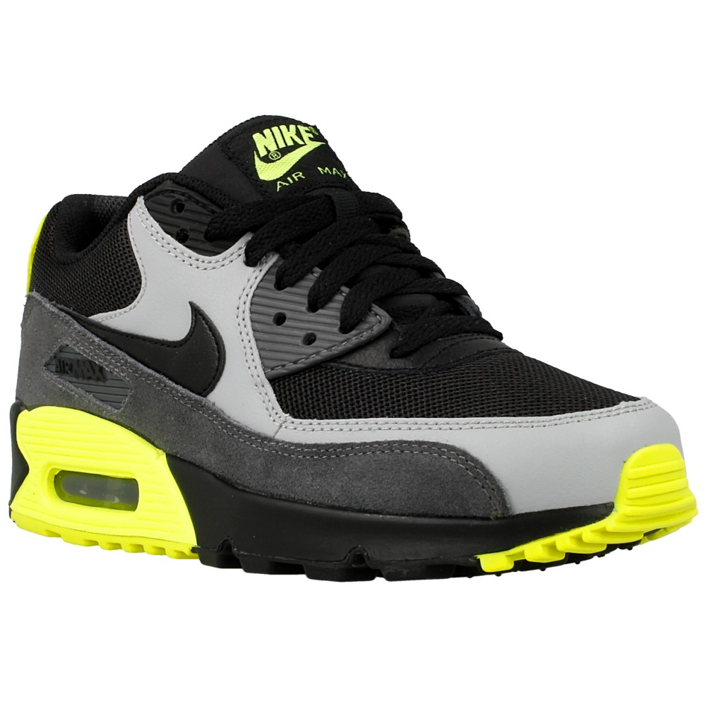nike air max 90 mesh gs 724824 002 black grey yellow en. Black Bedroom Furniture Sets. Home Design Ideas