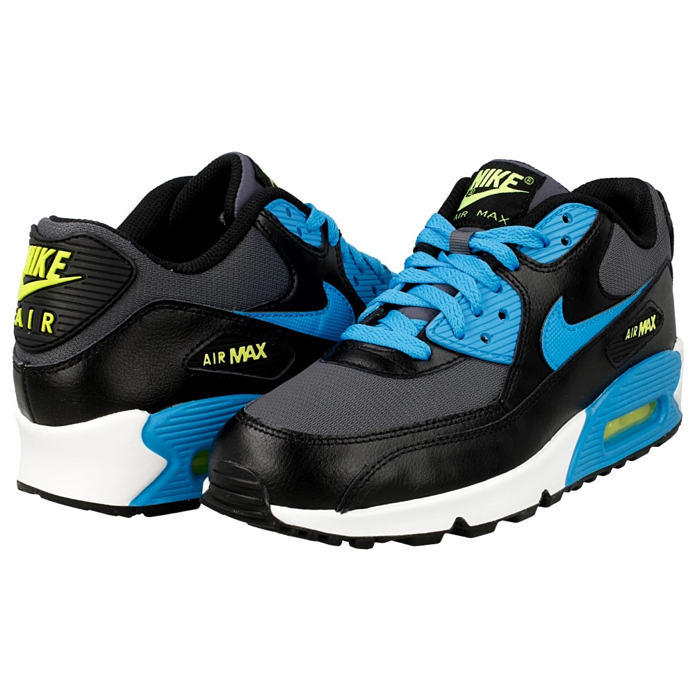 nike air max 90 mesh gs 724824 004 black blue en. Black Bedroom Furniture Sets. Home Design Ideas