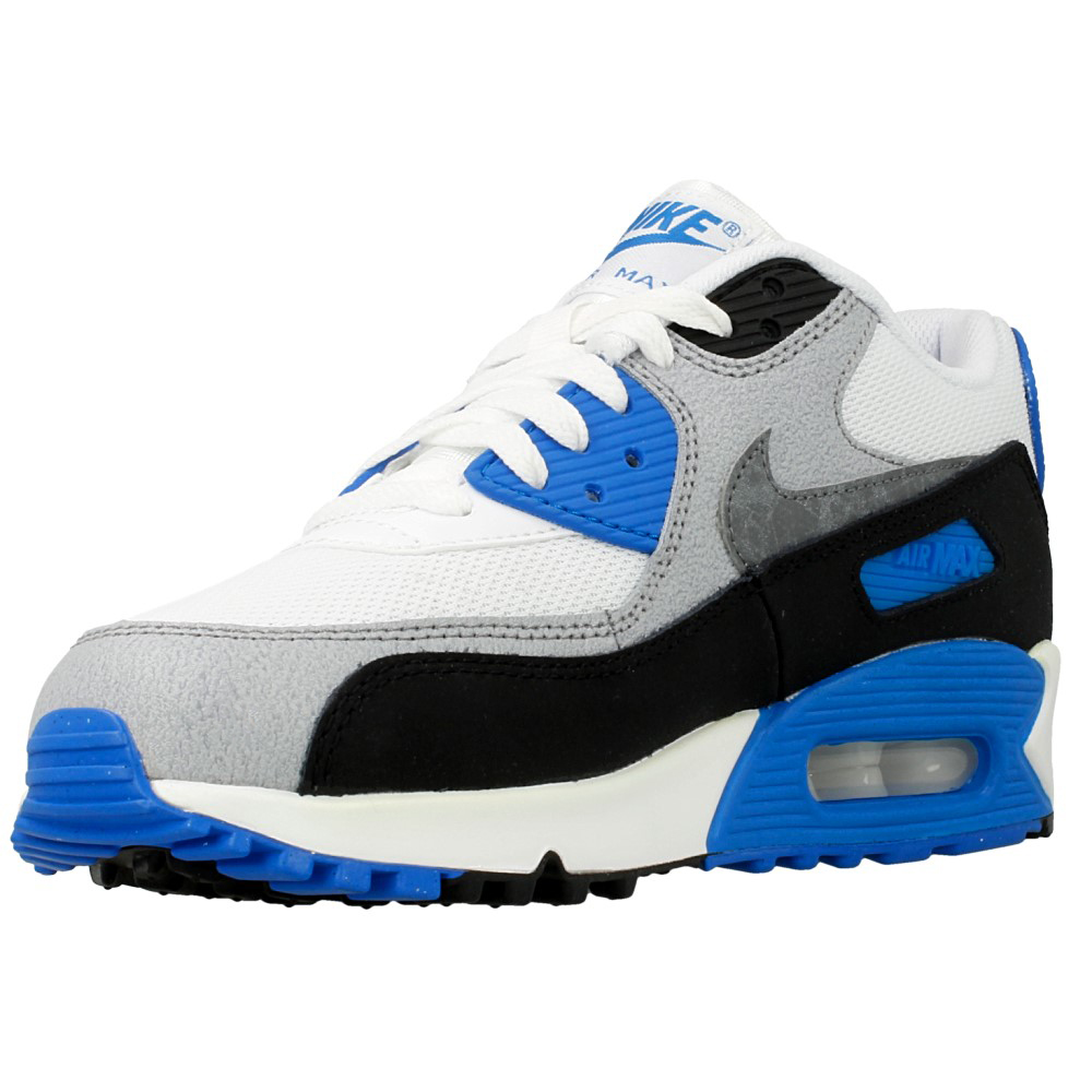 nike air max 90 mesh gs 724824 101 white black blue grey en. Black Bedroom Furniture Sets. Home Design Ideas