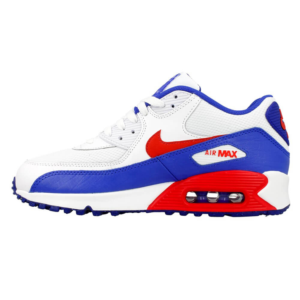 nike air max 90 mesh gs 724824 104 white red blue en. Black Bedroom Furniture Sets. Home Design Ideas