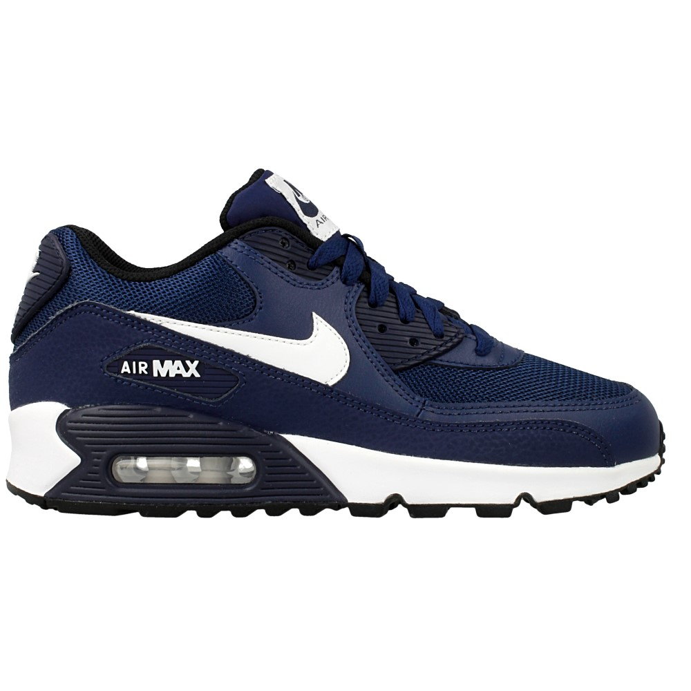 nike air max 90 mesh gs 724824 401 white dark blue en. Black Bedroom Furniture Sets. Home Design Ideas