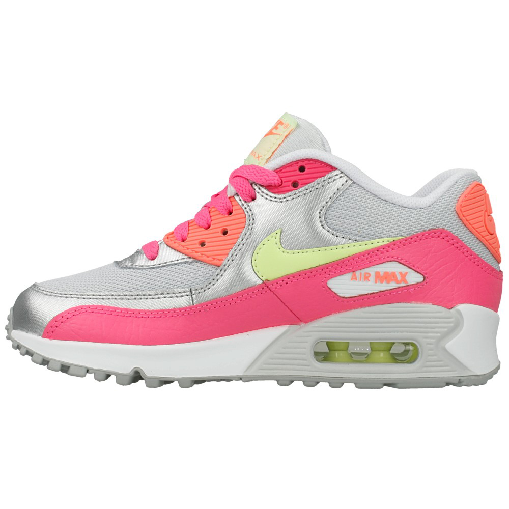 nike air max 90 mesh gs 724855 001 pink silver yellow en. Black Bedroom Furniture Sets. Home Design Ideas