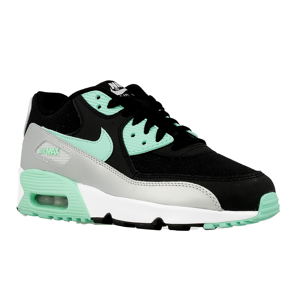 nike air max 90 mesh gs 833340 003 black grey green en. Black Bedroom Furniture Sets. Home Design Ideas