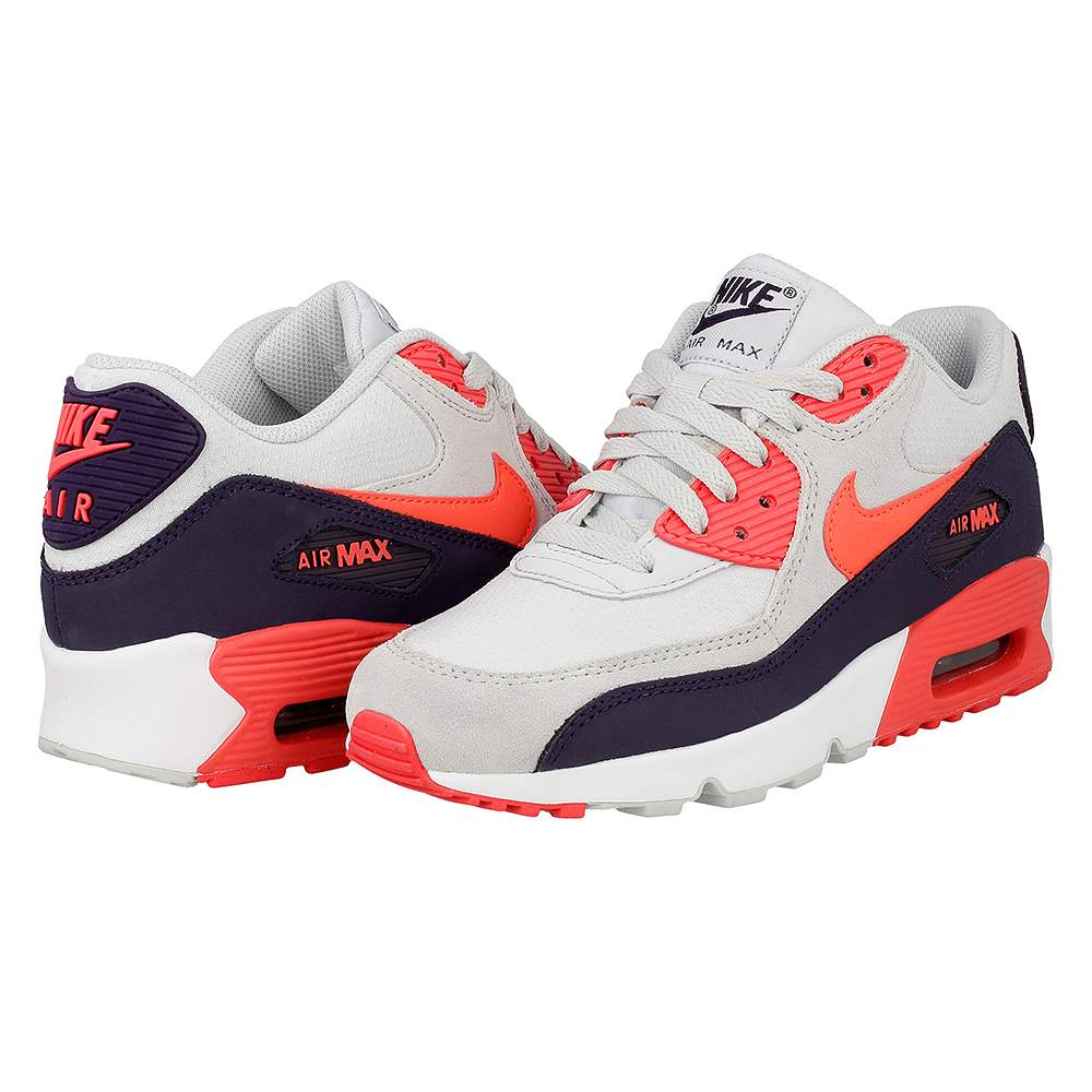 nike air max 90 mesh gs 833340 005 white dark blue orange grey en. Black Bedroom Furniture Sets. Home Design Ideas