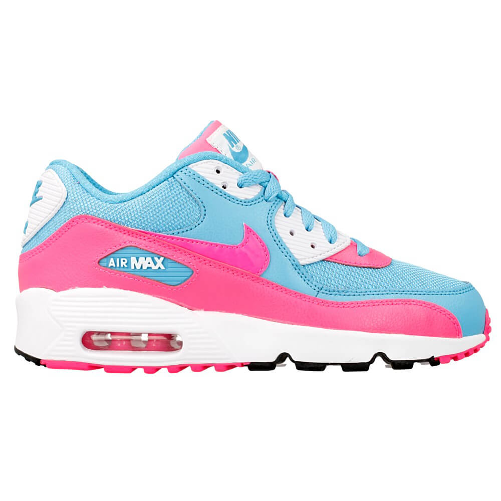 nike air max 90 mesh gs 833340 400 light blue blue pink en. Black Bedroom Furniture Sets. Home Design Ideas
