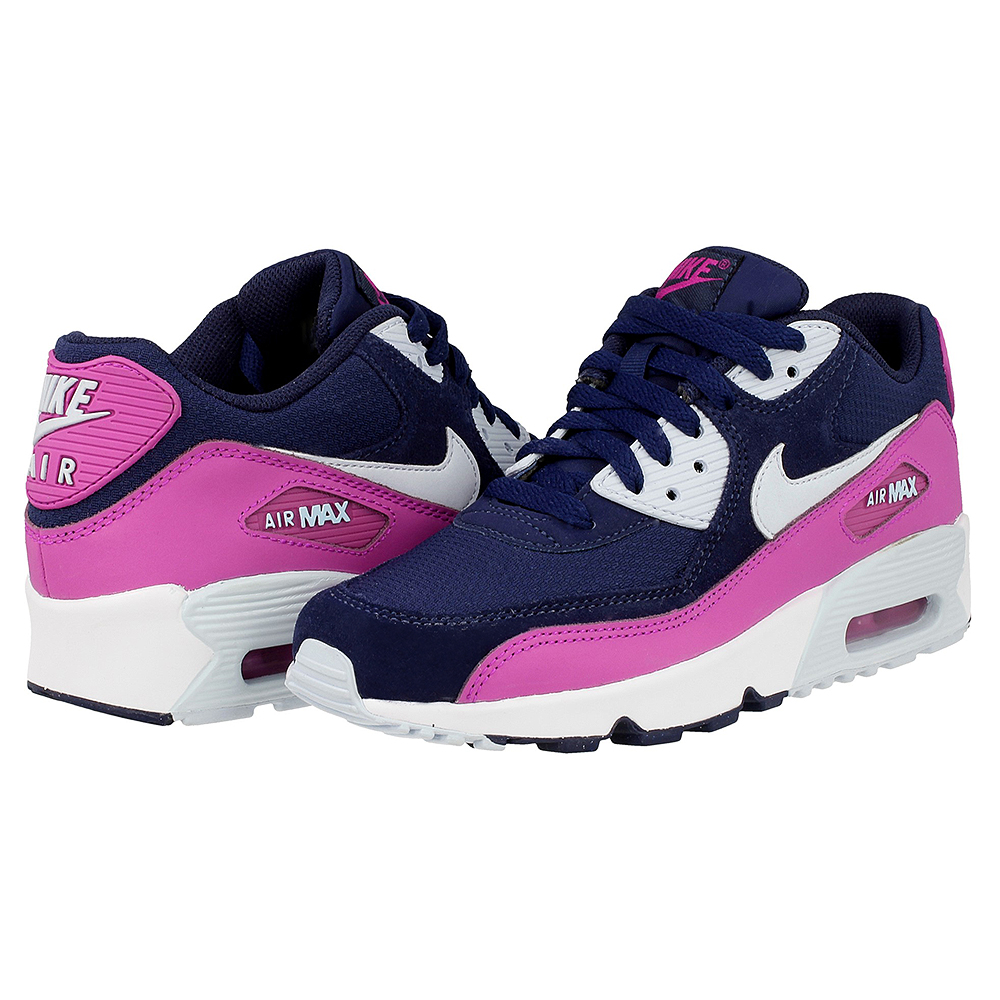 nike air max 90 mesh gs 833340 402 dark blue pink en. Black Bedroom Furniture Sets. Home Design Ideas
