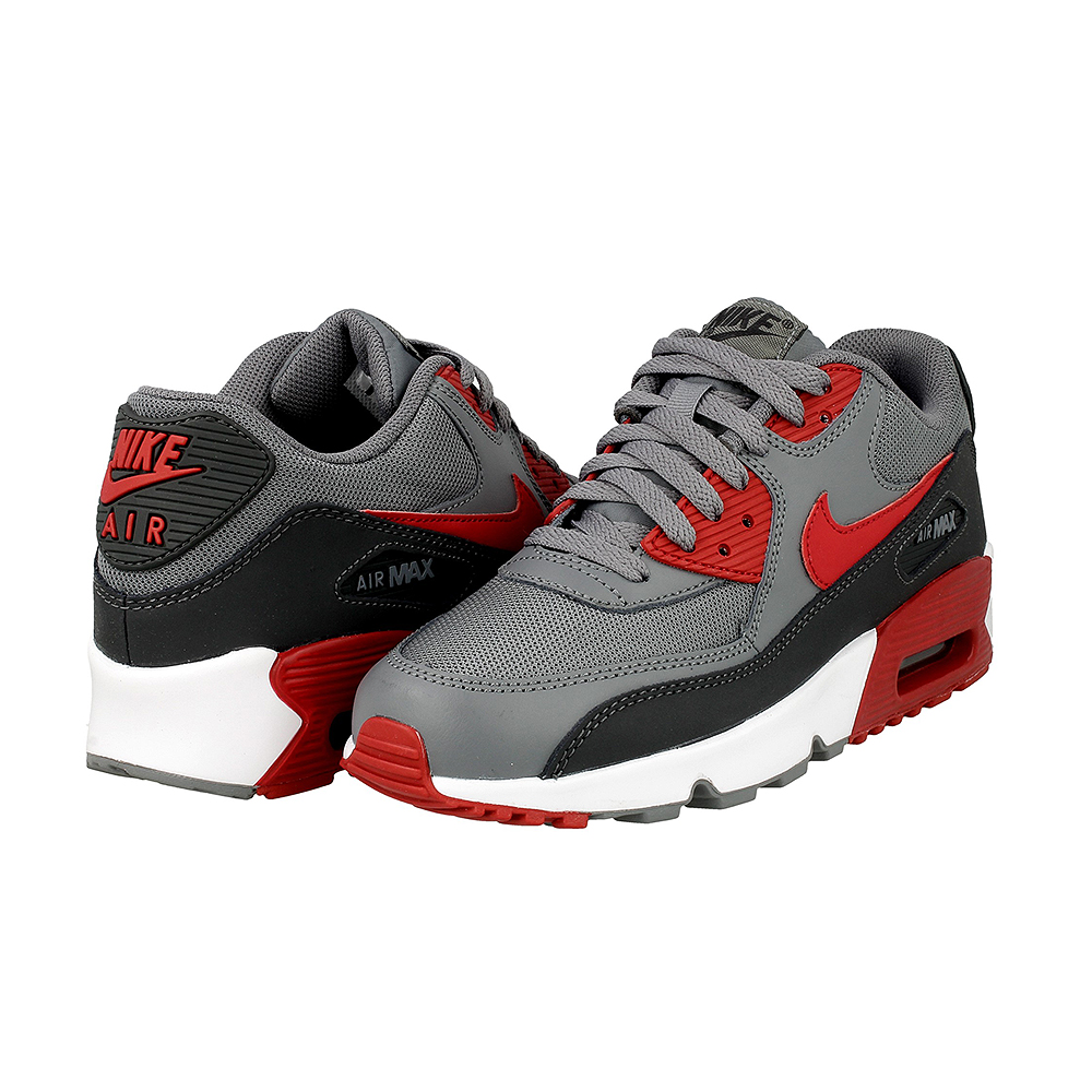 nike air max 90 mesh gs 833418 007 red grey en. Black Bedroom Furniture Sets. Home Design Ideas