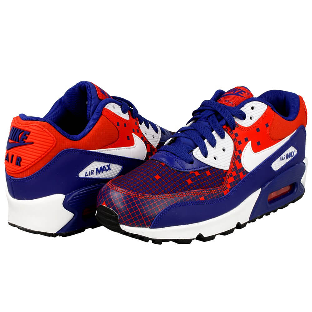 nike air max 90 premium mesh gs 724882 401 red dark blue en. Black Bedroom Furniture Sets. Home Design Ideas
