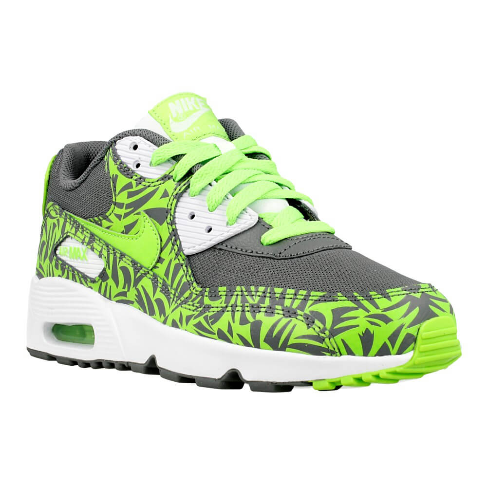 nike air max 90 print mesh gs 833486 003 grey green en. Black Bedroom Furniture Sets. Home Design Ideas