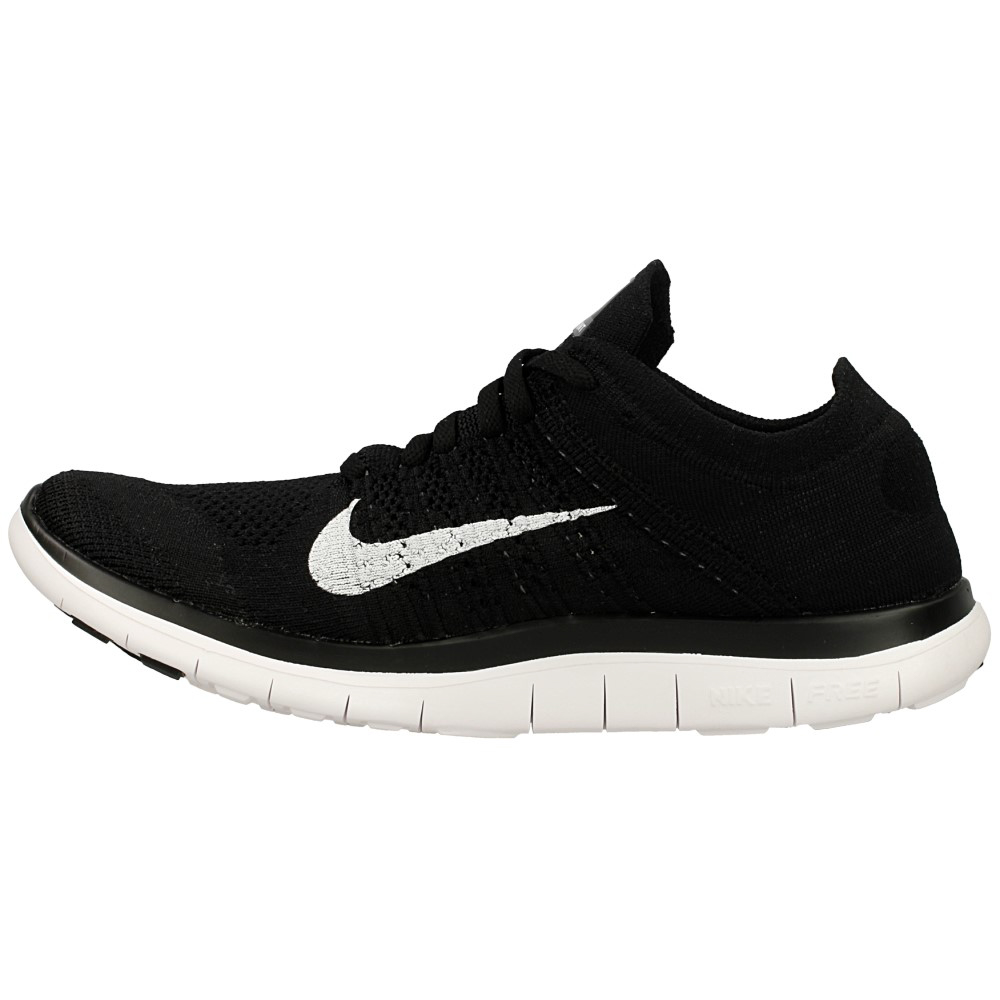 nike free 4 0 flyknit 631053 001 white black en. Black Bedroom Furniture Sets. Home Design Ideas