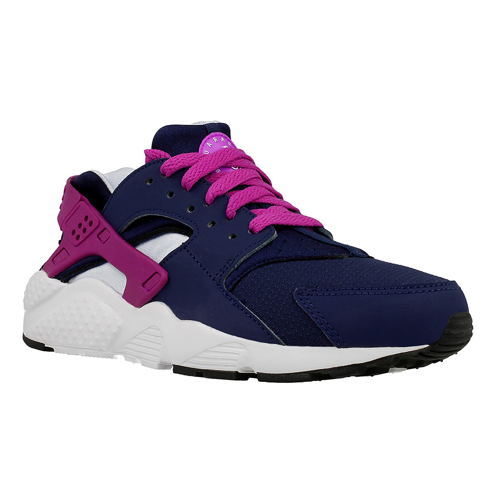 nike huarache purple and blue