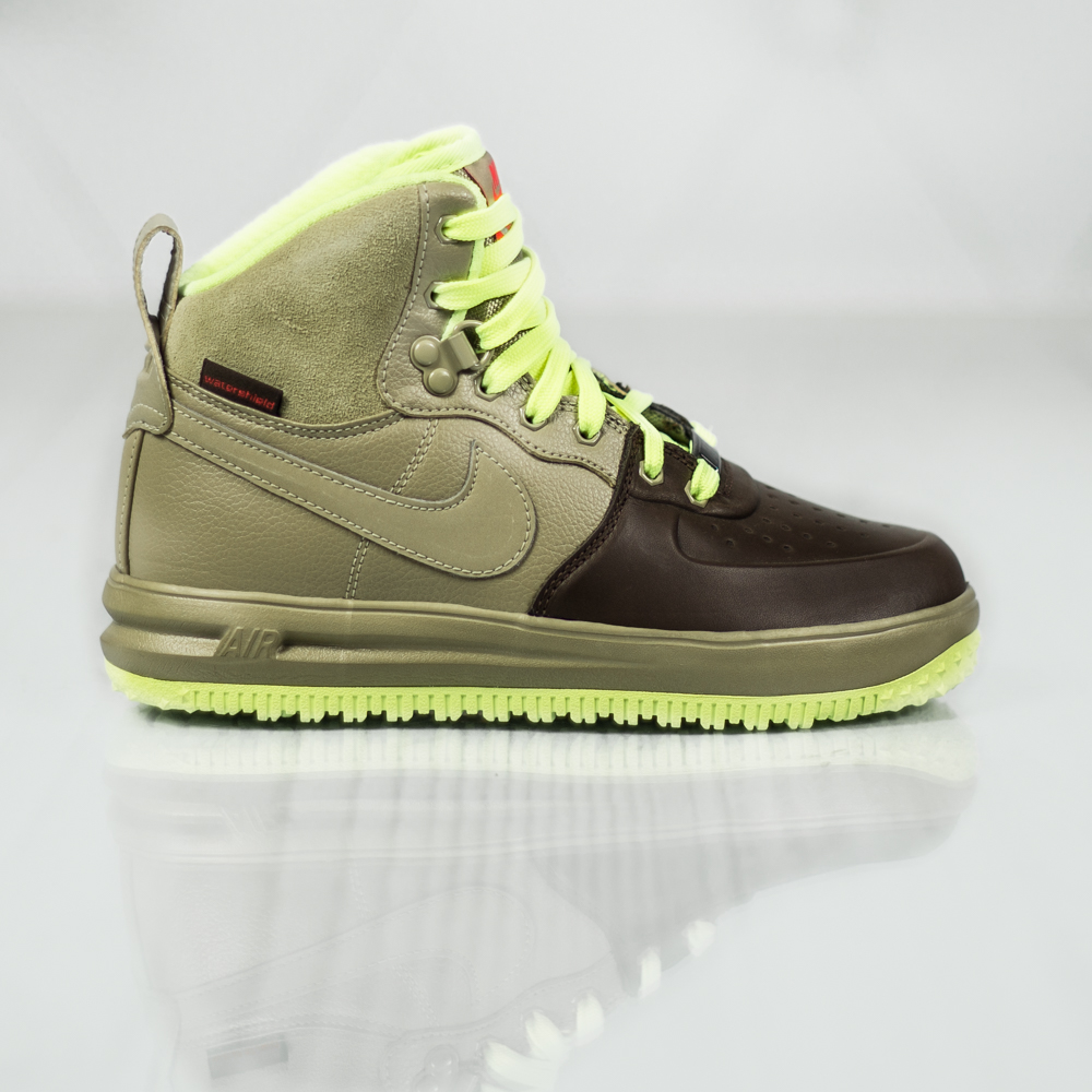 nike lunar force 1 sneakerboot gs 706803 201 grey green. Black Bedroom Furniture Sets. Home Design Ideas
