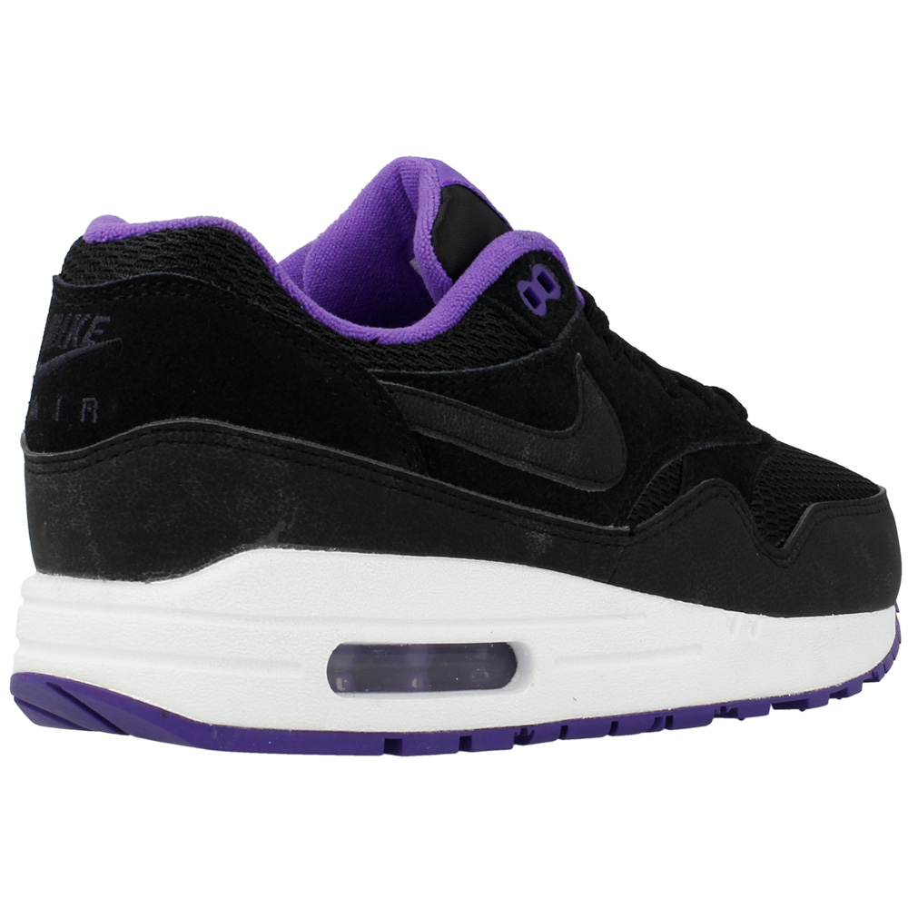 nike wmns air max 1 essential 599820 006 black purple. Black Bedroom Furniture Sets. Home Design Ideas