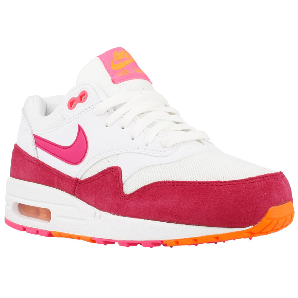 nike wmns air max 1 essential 599820 112 white pink. Black Bedroom Furniture Sets. Home Design Ideas