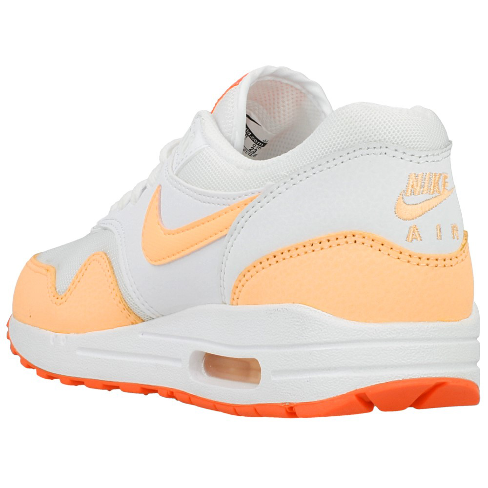 nike wmns air max 1 essential 599820 114 white orange. Black Bedroom Furniture Sets. Home Design Ideas