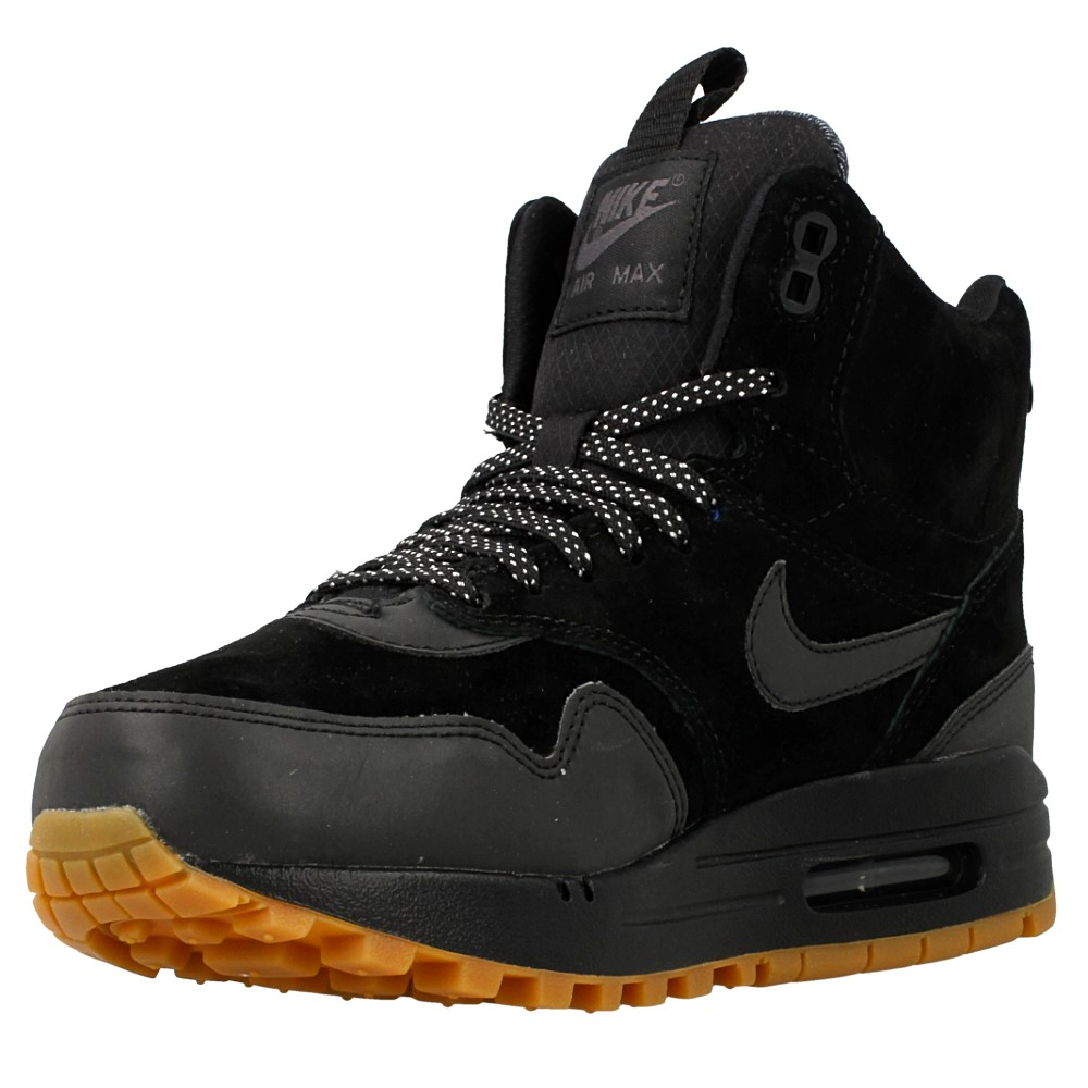 nike wmns air max 1 mid sneakerboot 685267 003 black. Black Bedroom Furniture Sets. Home Design Ideas