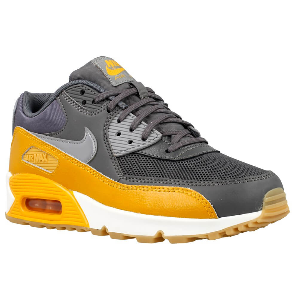 nike wmns air max 90 essential 616730 027 grey yellow. Black Bedroom Furniture Sets. Home Design Ideas