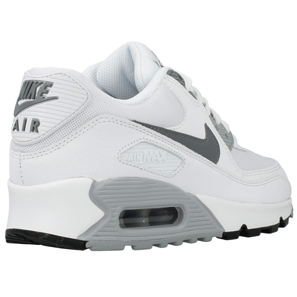 nike wmns air max 90 essential 616730 108 white grey. Black Bedroom Furniture Sets. Home Design Ideas