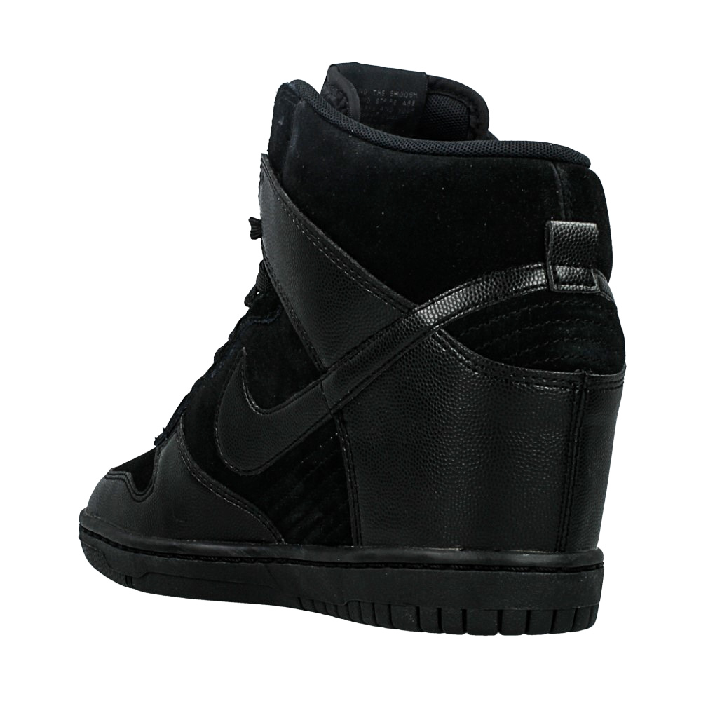 new styles 3321f 34a2c ... nike dunk sky hi black leather ...
