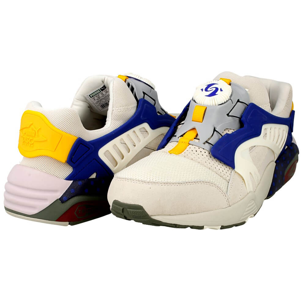 puma disc blaze street 360926 01 white cream blue. Black Bedroom Furniture Sets. Home Design Ideas
